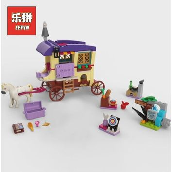 Lepin 25018 Friends the Travelling Caravan Set Girl Princess Romantic Carriage Model Building Blocks Bricks 41157 Children Toy
