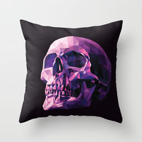 Skull Throw Pillow by Roland Banrevi