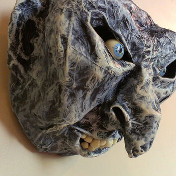 Demon Monster papier mache faux taxidermy wall decor