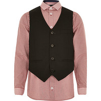 River Island Boys red gingham shirt and vest set