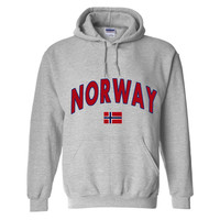 Norway MyCountry Pullover Arch Hoody (Sport Gray)