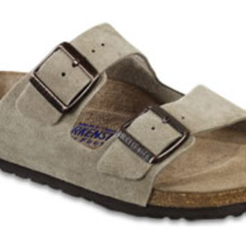 Arizona Soft Footbed Taupe Suede Sandals | Birkenstock USA Official Site
