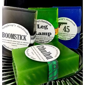 CHOOSE SCENT Batch of 4 Soap Bars | Any Single Scent | Beard Wash | Shave Soap | Body Bar