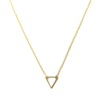 Tiny Gold Triangle, Necklace, Pendant, Minimalist jewlery, minimal jewellery, bracelets, necklace