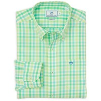 Royall Avenue Check Sport Shirt in Lime by Southern Tide