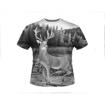 11085-0111 - DEER CROSSING T-SHIRT