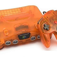 Atomic Orange Nintendo 64 System - Nintendo 64 (Pre-owned)