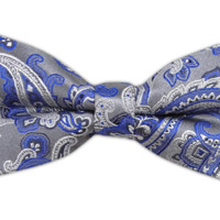 Chicago Paisley - Silver (Bow Ties) - Wear Your Good Tie. Every Day