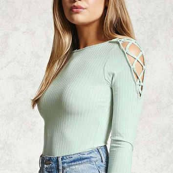 Strappy Open-Shoulder Top