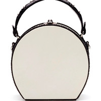 Parchment and Alligator Bertoncina Hand Bag