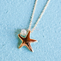 Moontide Gold Starfish Necklace