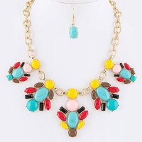 Spring Beauty Statement Necklace Set