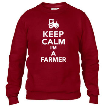 Keep calm I'm a Farmer Crewneck sweatshirt