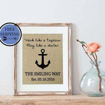 Father's Day Gift Ideas | Anchor Gift | Dad Gift | Captain |Personalized Father's Day Gift | Gift for Husband | Gift for Dad  | Gift for Him