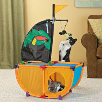 ToyShoppe® Playables Kitty Pirate Ship Cat Toy