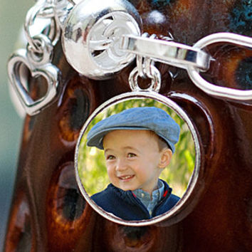 Photo Charm / Sterling Silver Photo Jewelry / Photo Pendant / Photo Charm for Bracelet / Memorial Charm Personalized Gift