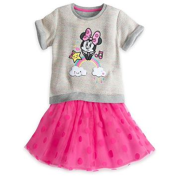 Original Disney Store Minnie Mouse Skirt Set for Girls Size: 2