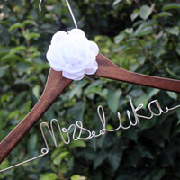 bride hanger flower bridal hanger,The flower hanger, Bridal hanger with coral flower,hanger with flower, coral flower hanger,