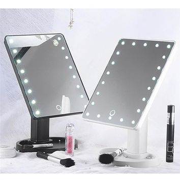 Lighted Makeup/Vanity Mirror with smart touch switch dimmable sensor