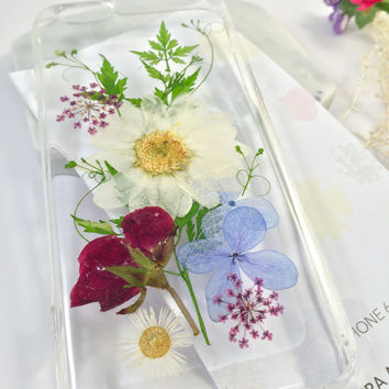 Pressed Flower i Phone Case, Pressed Flower Phone case, Real Flower Phone Case, i Phone Case,Pressed Flower Accessories,Sakura Accessories