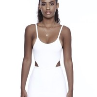 LEISURE BODYSUIT IN WHITE