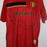 """Belgium Country Soccer Jersey """"One Size"""" = Athletic Men's Large by Drako"""