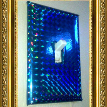 Light Switch Plate - Blue Holographic