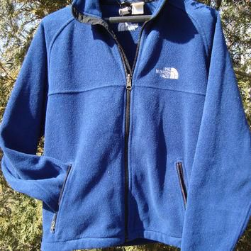 The North Face 90s Fleece Vintage Zip Up Jacket Navy Blue