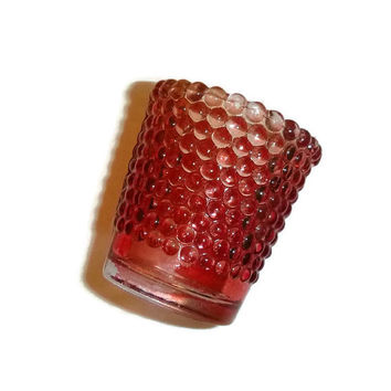 Vintage Pink Hobnail Votive Candle Holder, Shabby Chic Pink Home Decor, Depression Glass, Mid Century Pink Glass Collectible, Votive Cup