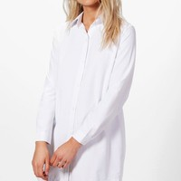 Petite Nicola Corset Back Detail Shirt Dress | Boohoo