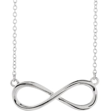 "Infinity-Inspired 18"" Necklace"