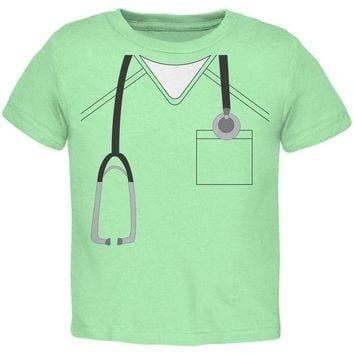 DCCKU3R Halloween Doctor Scrubs Costume Mint Green Toddler T-Shirt