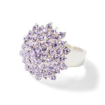 Silvertone Lilac Starburst Ring - White House | Black Market