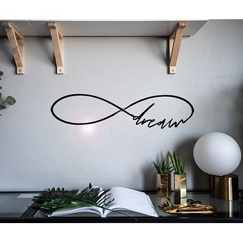 Vinyl Wall Decal Lettering Inspiring Word Dream Infinity Stickers Mural 28 in x 7 in gz139