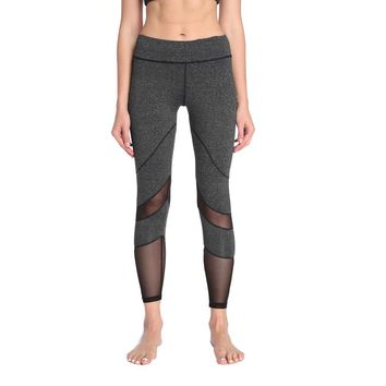 Sport High Waist Fitness Leggings Women Girls Workout Yoga Leggings Mesh Push Up Running Gym Compression Tights