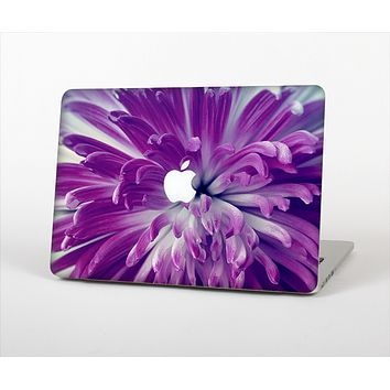 The Vivid Purple Flower Skin Set for the Apple MacBook Pro 15""