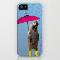 The Rainy Day Otter iPhone Case by Collageorama | Society6