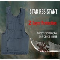 2017New 2 Layer Stab Resistant Vest Soft Self-Defense Police Use Security Tactical Chutz Weste Tatico Anti Stab Covert Stab Vest