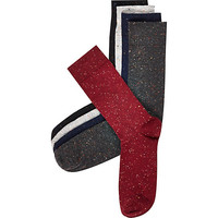 River Island MensNavy neppy socks pack