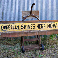 Doebelly Shines Here Now Vintage Deep Deuce Oklahoma City Shoeshine Sign Black Yellow Historic Signage LOCAL PICK UP
