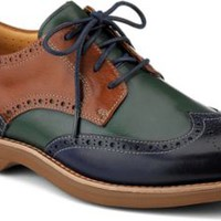 Sperry Top-Sider Gold Cup Bellingham ASV Wingtip Oxford Navy/Tan/GreenLeather, Size 11M  Men's Shoes