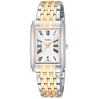 Pulsar Ladies Traditional Collection Watch - Tri-Tone Case & Bracelet