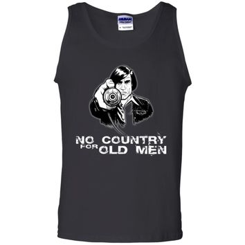 No-COUNTRY-for-old-men-PIC G220 Gildan 100% Cotton Tank Top