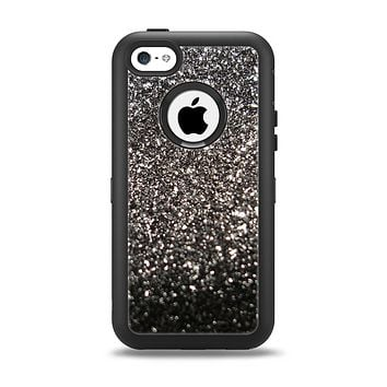 The Black Unfocused Sparkle Apple iPhone 5c Otterbox Defender Case Skin Set