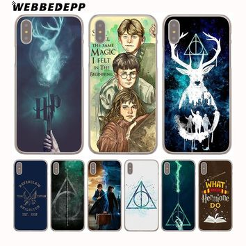 WEBBEDEPP Harry Potter Bitch deer Harry Potter Hard Phone Case for iPhone X XS Max XR 7 8 6S Plus 5 5S SE 5C 4 4S Cover