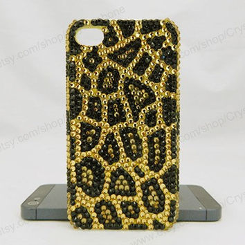 Golden Leopard pattern iPhone case,bling iphone 6 case,Crystal iphone 6 Plus,Rhinestone iphone 5/5S/5c,iphone 4 case samsung galaxy S3/S4/S5