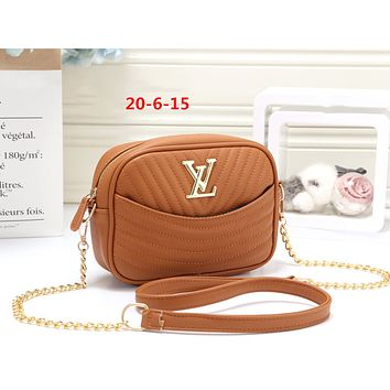 LV 2019 new women's clutch bag handbag shoulder bag Messenger bag Brown