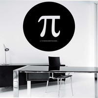 Pi Math Wall Decal Sticker Art Decor Bedroom Design Mural numbers educational education teach science nerd geek