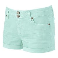 Candie's Color High-Waist Roll Cuff Shortie Shorts - Juniors