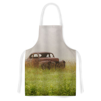 "Angie Turner ""Forgotten Car"" Grass Artistic Apron"